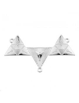 Pendentif plastron 3 triangles 1 anneau 50x19mm