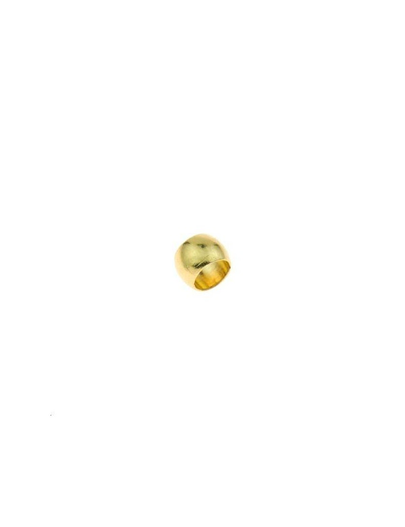 Perle de serrage 4mm doré