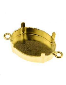 Sertissure pour cabochon ovale (4120) 18mm + 2 anneaux doré