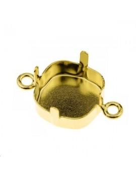 Sertissure pour cabochon carré (4470) 10mm + 2 anneaux doré