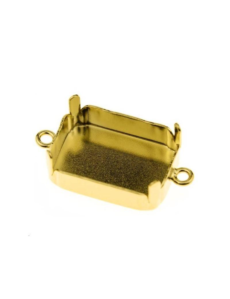 Sertissure pour octogone (4610) 18mm + 2 anneaux doré