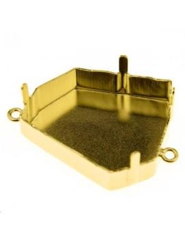 Sertissure pour kaputt fancy stone (4923) 28mm + 2 anneaux doré