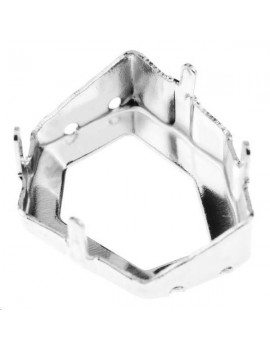Sertissure pour tilted dice (4933) 19mm 4 trous plaqué argent