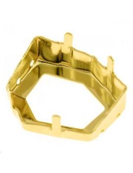 Sertissure pour tilted dice (4933) 19mm 4 trous doré