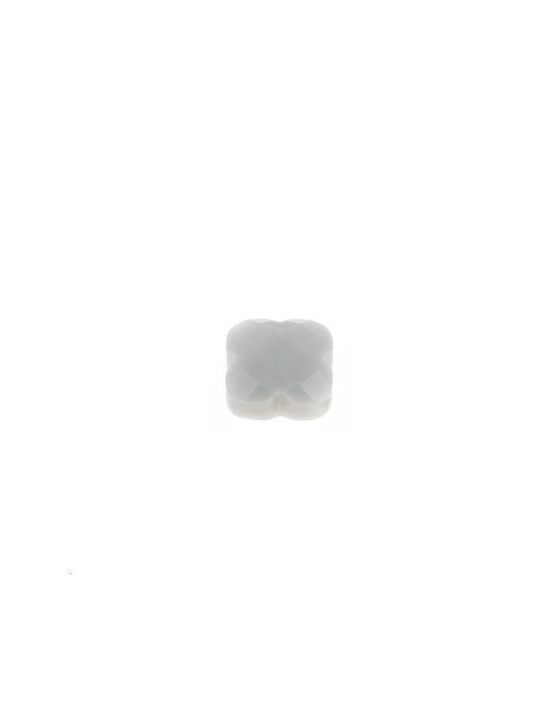 Trèfle verre facette 8x8mm gris