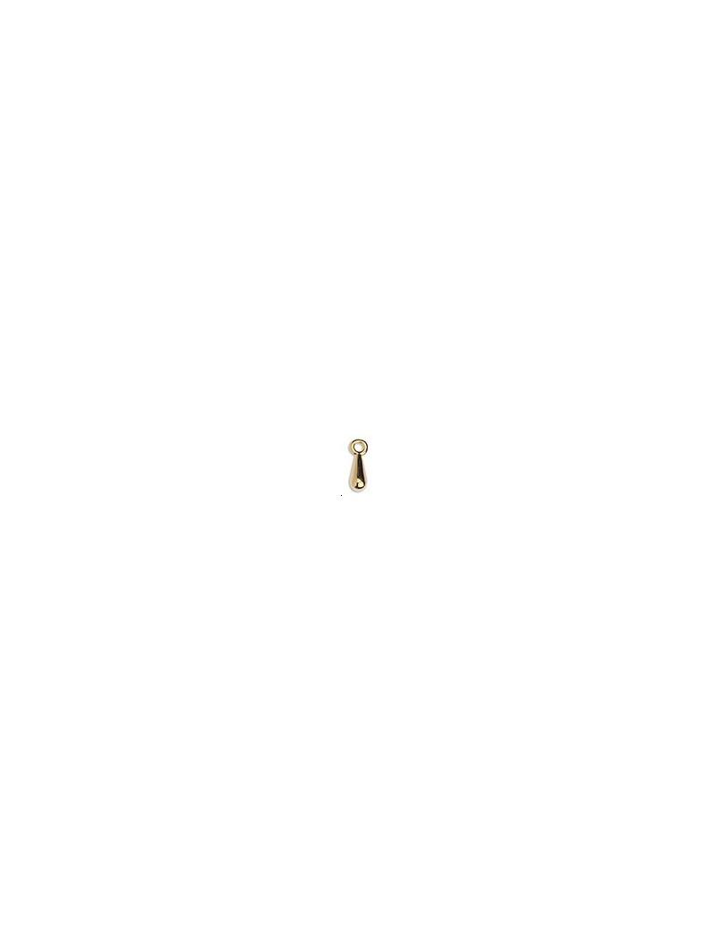 Pampille goutte 10x3mm doré