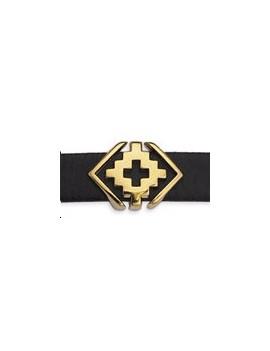 Passant géométrique croix 18x13mm doré pour cordon 10x2,5mm