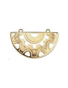 Pendentif ethnique 40mm 2 anneaux doré