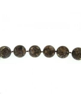 Agate turitella 17-18mm mate lot de 1 pièce