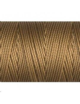 Le fil nylon C-LON beading cord 0,5mm antique gold vendu par bobine  de 84m