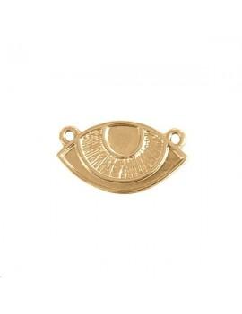 Pendentif œil 24x13mm 2 anneaux doré