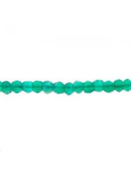 Onyx vert rondelle facettée 3,5 mm