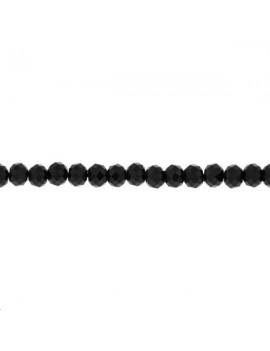 Spinelle noire ronde facettée 3mm