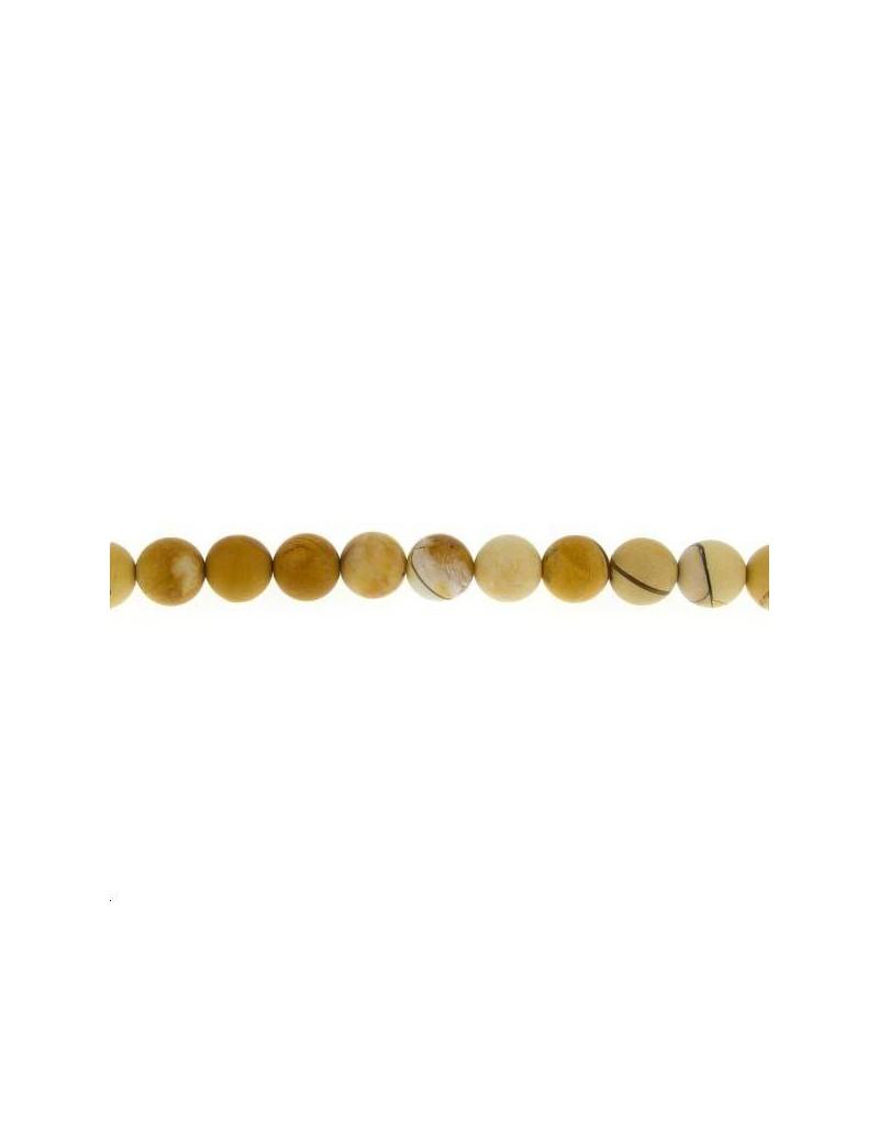 Mookaïte bréchique 9-10mm mate lot de 4 pièces