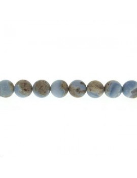 Opale Owyhee 9-10mm bleu mat lot de 2 pièces