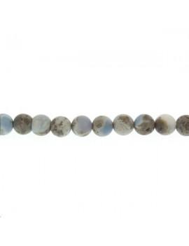 Opale Owyhee 7-8mm bleu mat grade B lot de 2 pièces