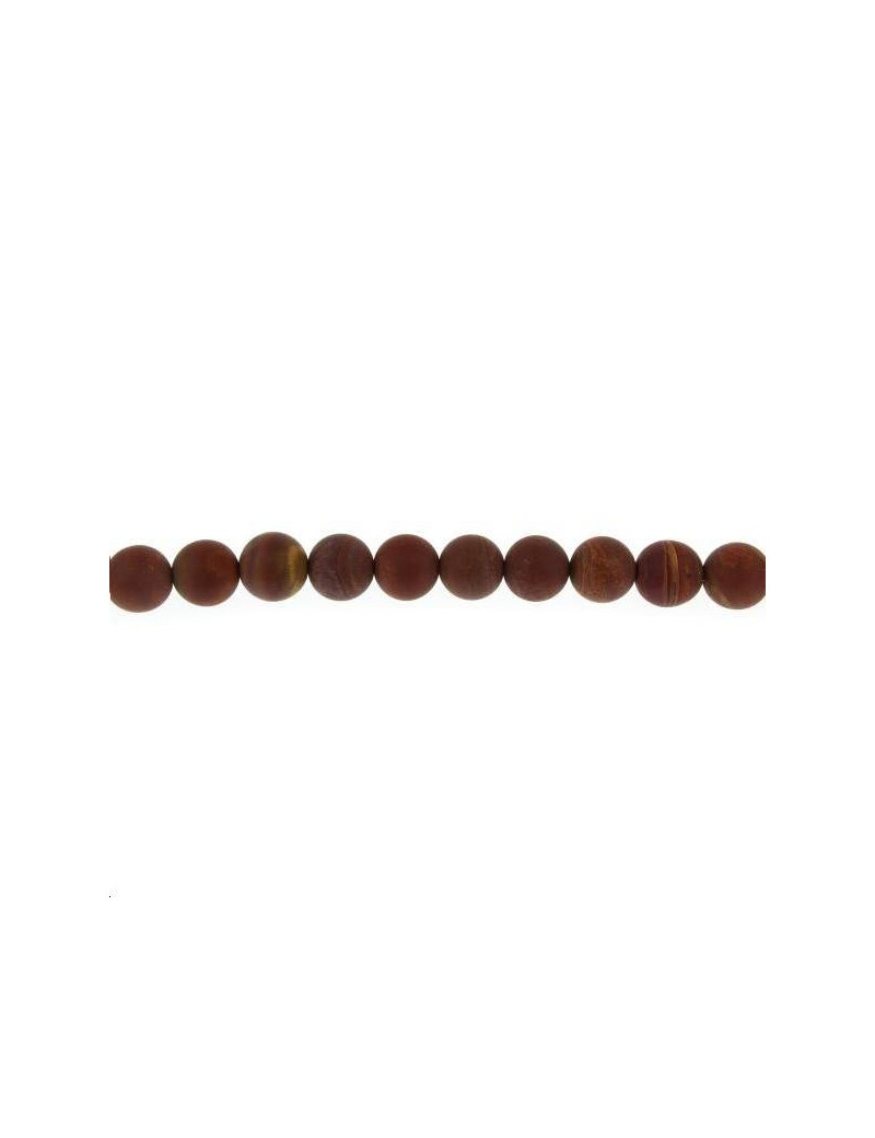 Jaspe landscape 9-10mm mat grade AB lot de 2 pièces