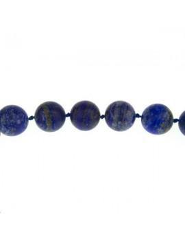 Lapis lazuli 17-18mm mat grade AB lot de 1 pièce