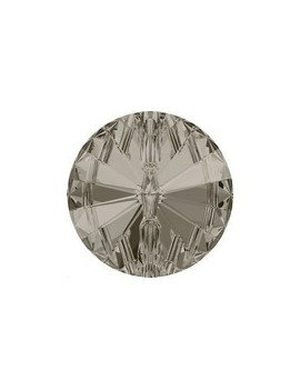 bouton rond 12mm crystal satin foiled