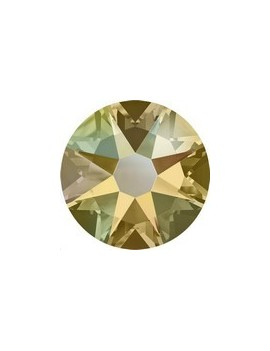Lot 10 strass plats à coller 6,5mm Xilion rose (SS30) light colorado topaz shimmer foiled