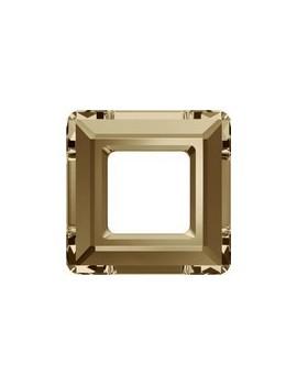 Carré évidé 20mm crystal golden shadow