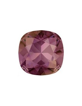 Cabochon carré 10mm crystal lilac shadow foiled