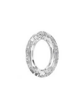 Cosmic oval 15x11mm crystal comet argent light