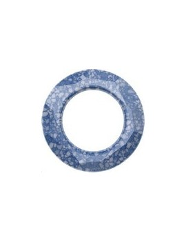 Cosmic ring 20mm marbled blue