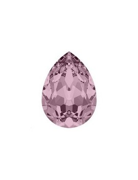 Goutte 10x7mm crystal antique pink foiled