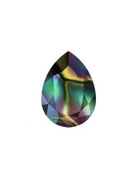 Goutte 18x13mm crystal rainbow dark foiled
