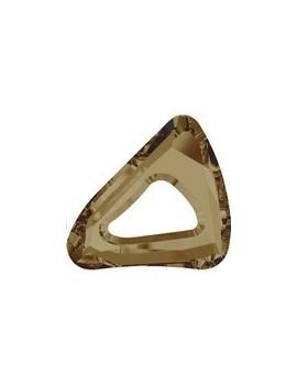 organic cosmic triangle 20mm crystal bronze shade