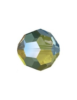 Ronde 3mm crystal iridescent green