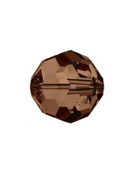 ronde 6mm smoked topaz