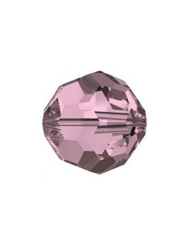 ronde 6mm crystal antique pink