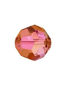 rond facette 6mm crystal astral pink
