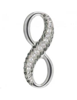 Pendentif pavé Infini 20mm black diamond crystal