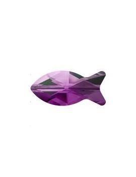 Fish bead 14mm ametyst blend