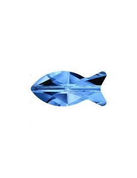 Fish bead 14mm capri blue