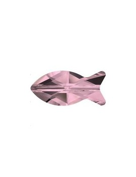 Fish bead 14mm crystal Antique pink