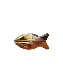 Fish bead 14mm topaz blend