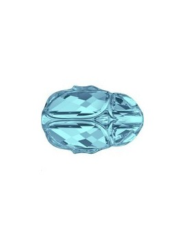 Scarab bead 12 mm aquamarine