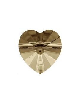 Coeur perle10mm cr gold shadow