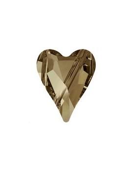 Wild heart bead 12mm Crystal Golden Shadow