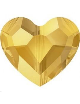love bead 8mm 1trou crystal metallic sunshine