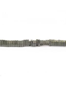 Hématite heisi 3x2x1mm mate lot de 5cm (environ 25 perles)