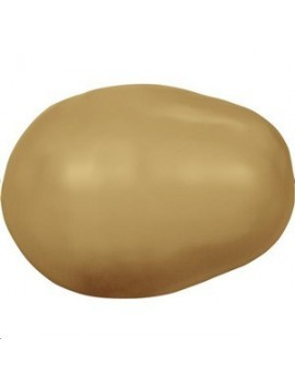 Nacre poire 11x8mm Bright gold