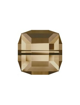 Cube 6MM Crystal golden shadow