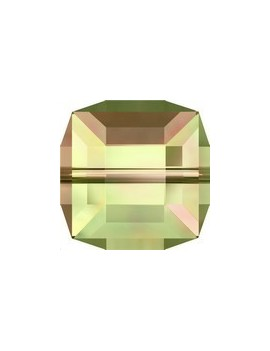 cube 6mm Crystal luminous green