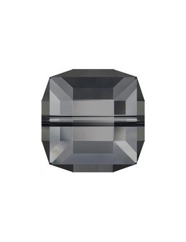 Cube 6MM Crystal silver night