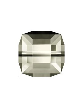 Cube 6mm Crystal silver shade